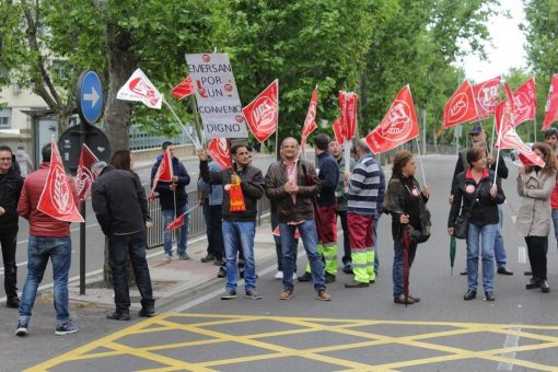 Los trabajadores del transporte sanitario luchando por sus salarios