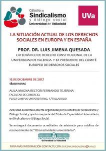 Actividad académica abierta organizada por la cátedra de Sindicalismo y Diálogo Social