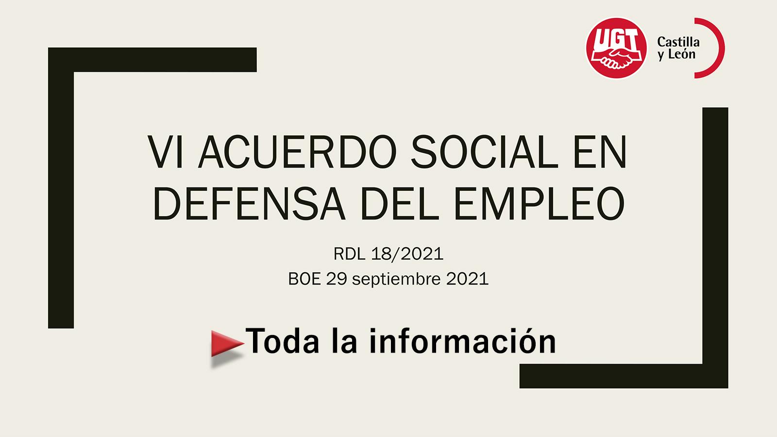 VI Acuerdo Social en Defensa del Empleo