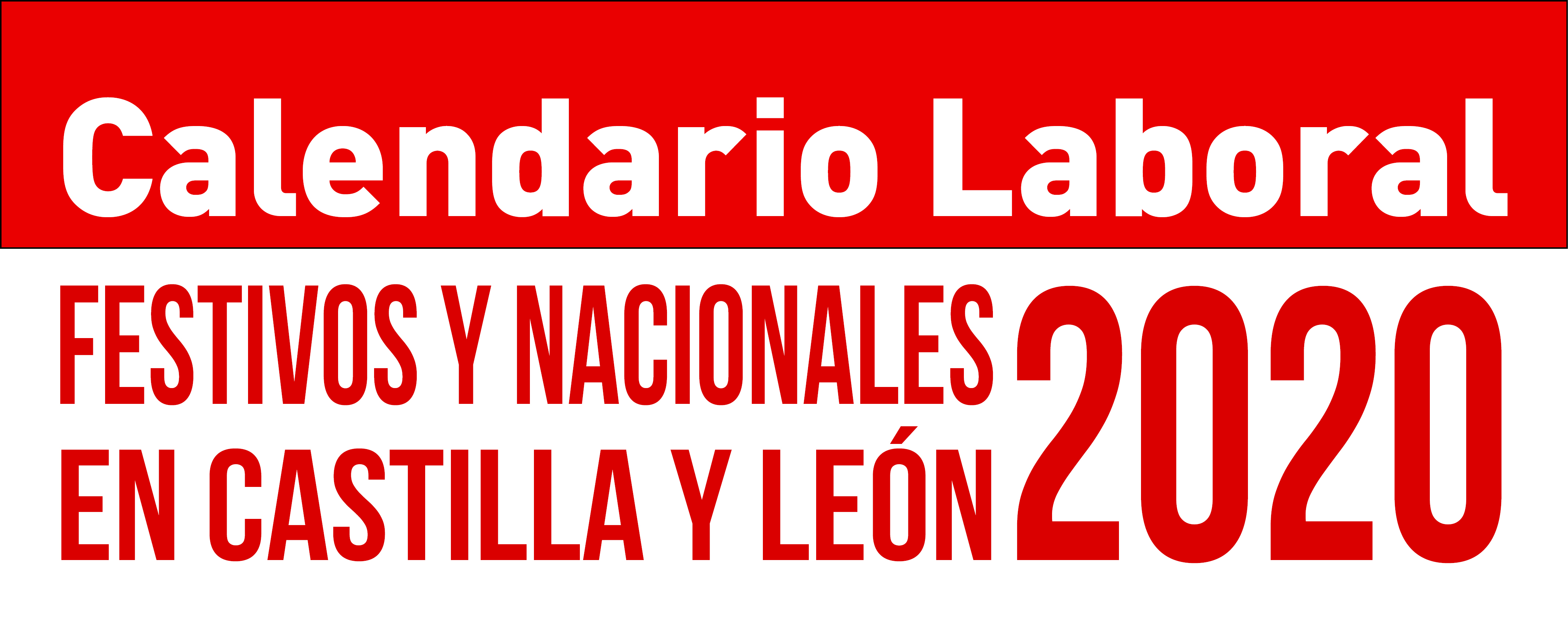 Calendario Laboral CyL 2020