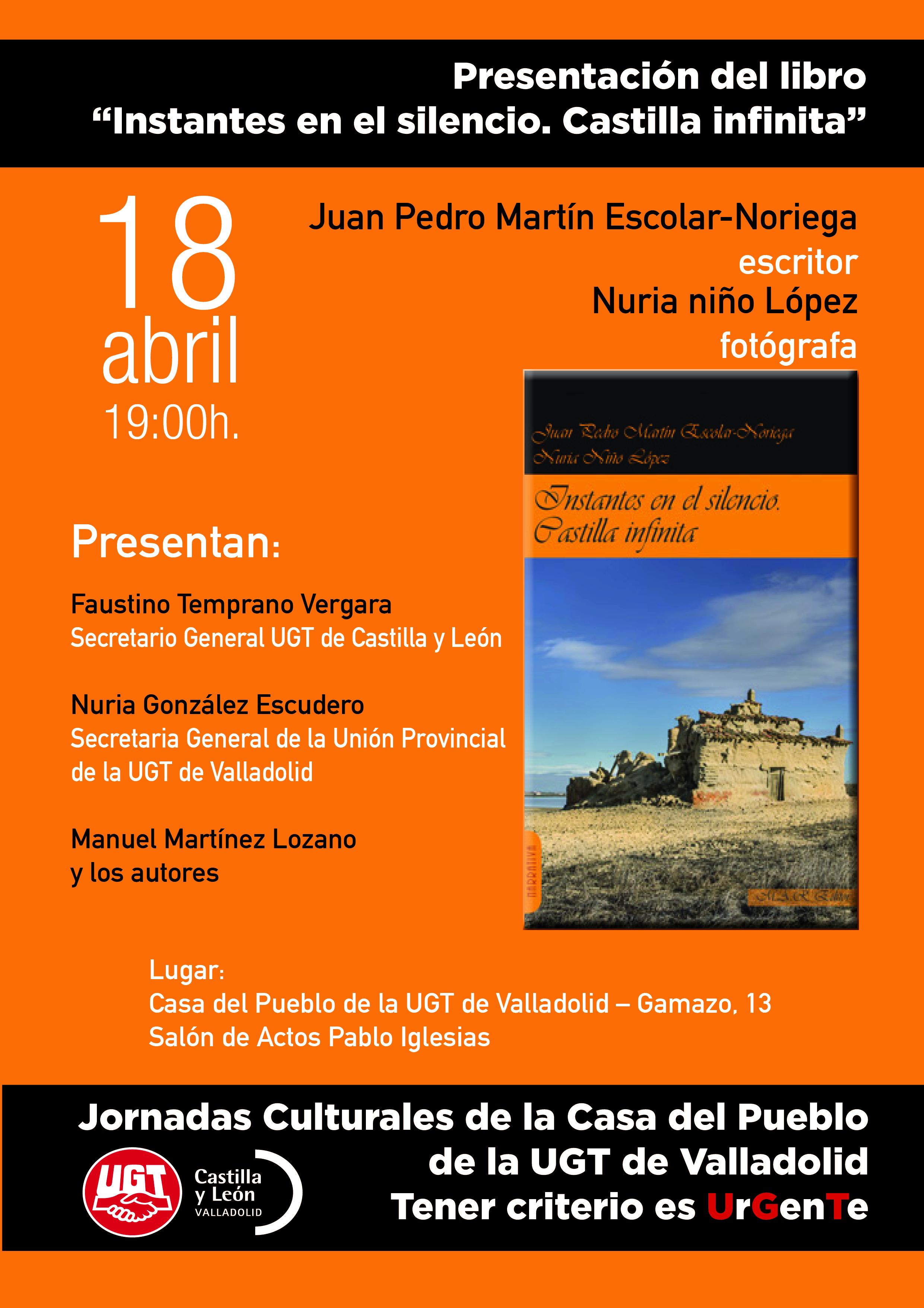 Presentación del libro Instantes en el silencio. Castilla infinita
