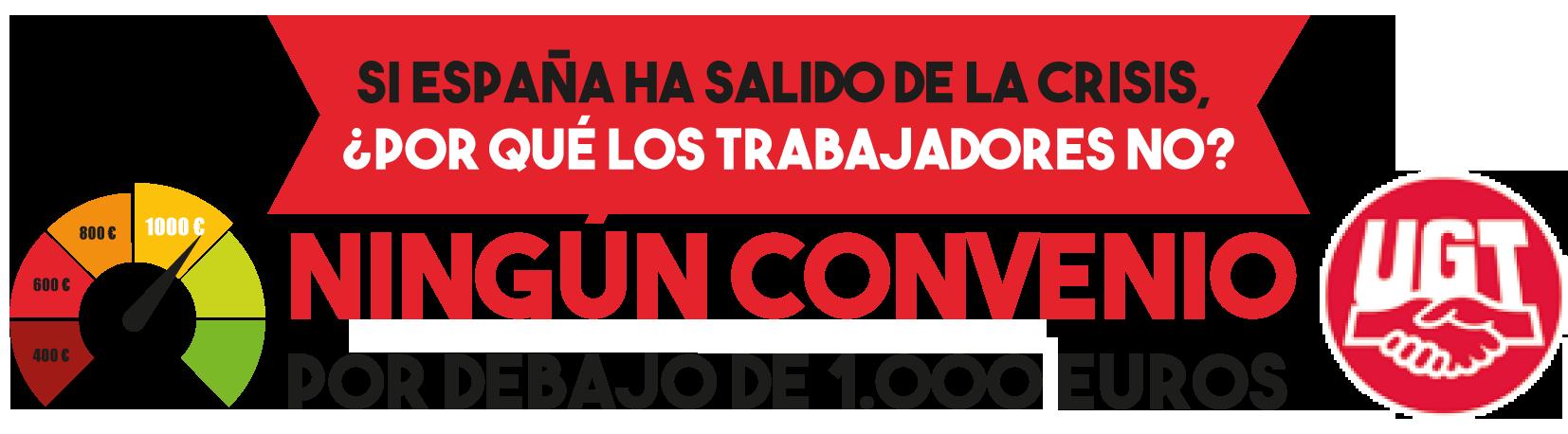 Ningún convenio por debajo de los 1.000 €. España ha salido de la crisis pero los trabajadores no