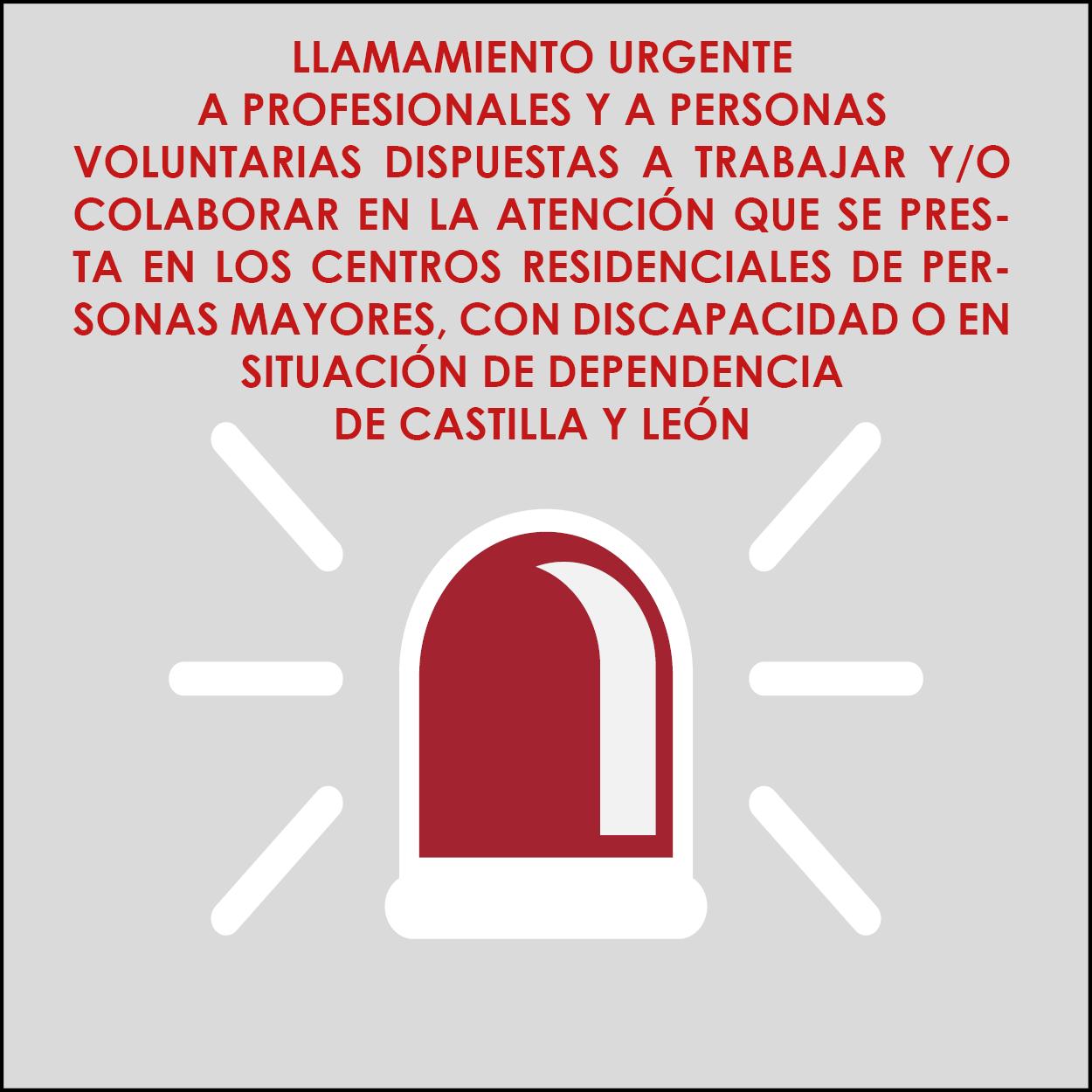 LLAMAMIENTO PROFESIONALES Y VOLUNTARIOS-MAYORES COVID 19
