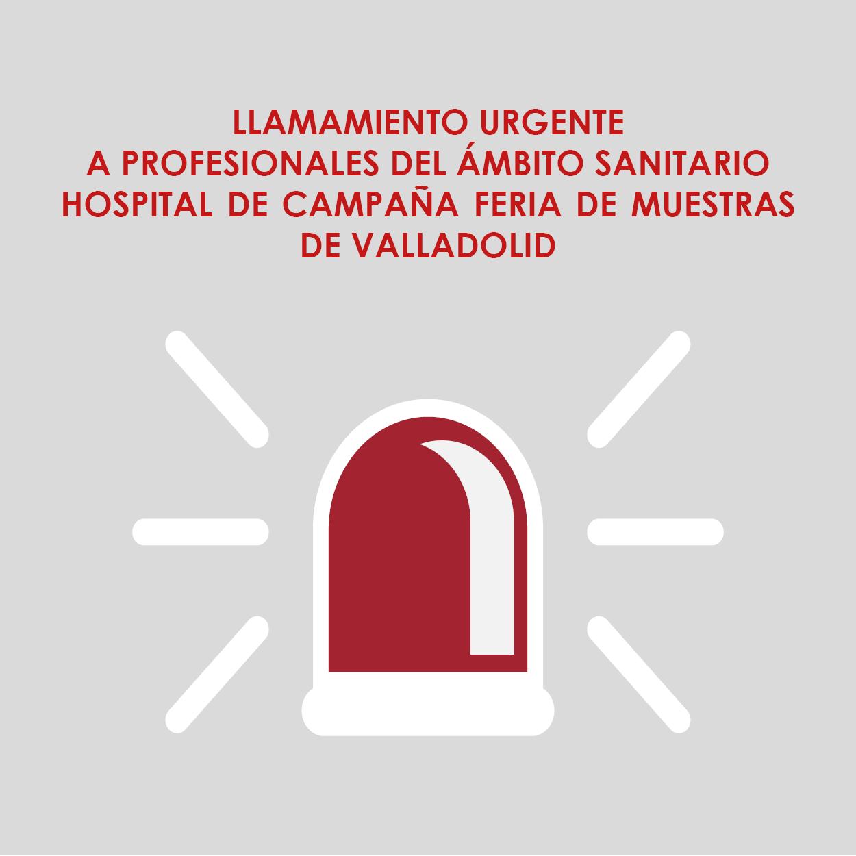 LLAMAMIENTO PROFESIONALES SACYL COVID 19