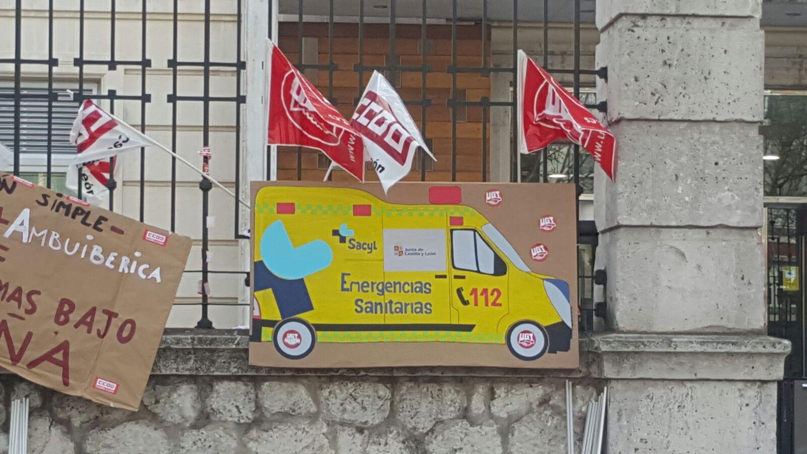 Movilizaciones en el transporte sanitario CyL