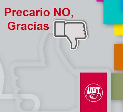 campaña de UGT contra la precariedad laboral que generan las empresas multiservicios
