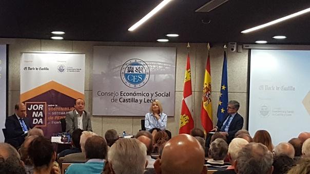 Carmen Barrera jornada sobre sostenibilidad del sistema público de pensiones