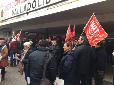 concentración trabajadores transporte de viajeros por carretera en Valladolid