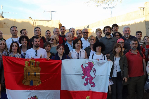 El presidente de la RASD con la delegación de Castilla y León