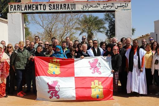 Una delegación de Castilla y León visita el Parlamento Saharaui