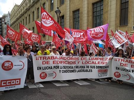 Los trabajadores del sector limpiezas de locales y edificos continuarán las movilizaciones