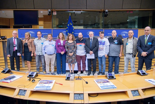 Reunión con los europarlamentarios españoles sobre el conflicto de Vestas