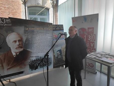 Faustino Temprano inaugura en Palencia la exposición 130 años de luchas y conquistas