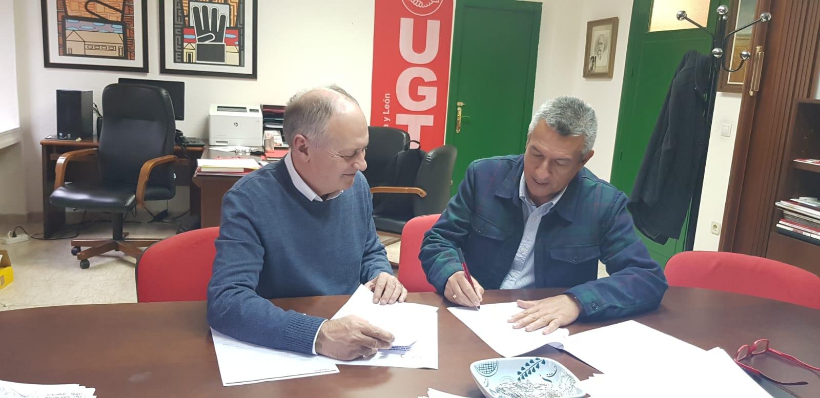 Firma de Acta de Hermanamiento UGTCyL y CUT Boyacá