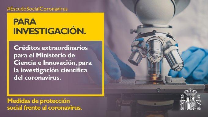 Créditos para la investigación del CoronaVirus