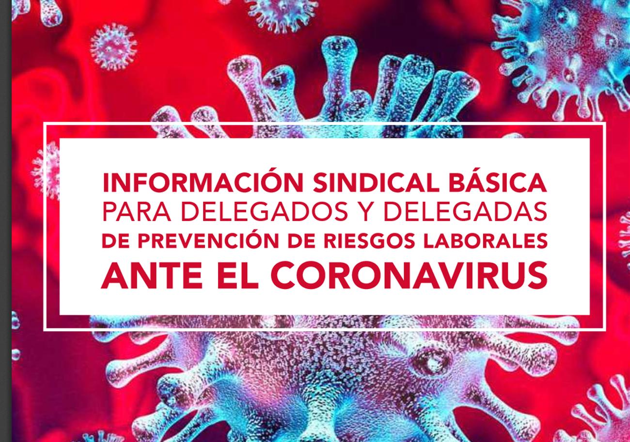 Información Sindical básica para delegados ante el CoronaVirus