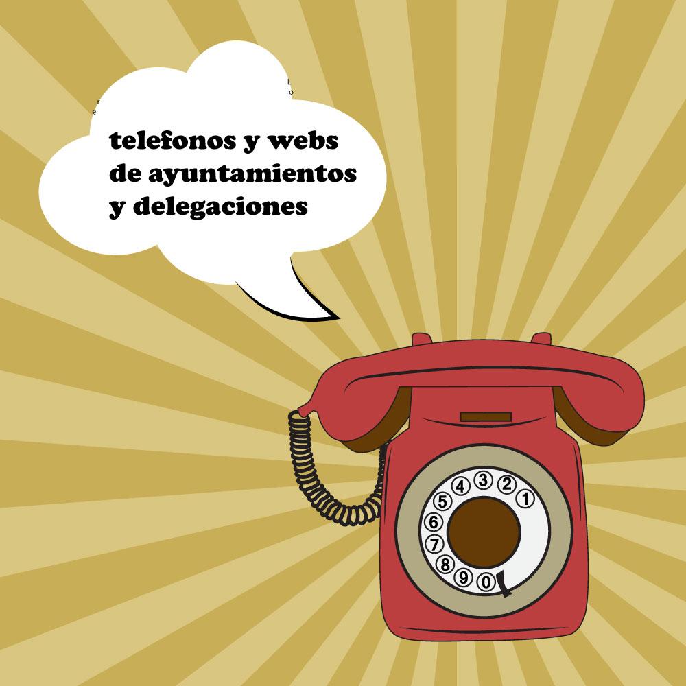 Telefonos y webs de contacto de Ayuntamientos y diputaciones en las provincias de Castilla y León
