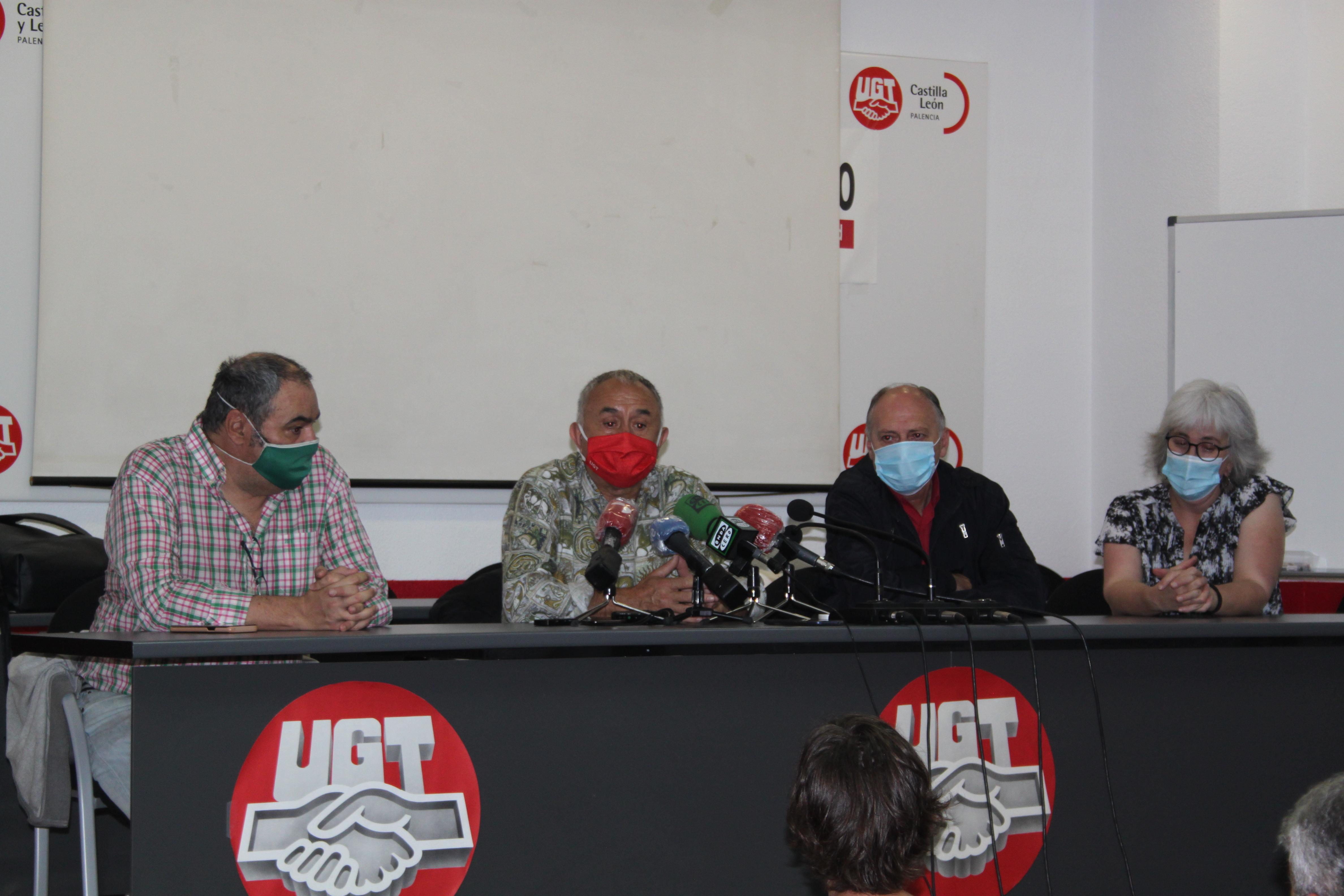 Rueda de Prensa UGT Palencia. Bomberos Forestales