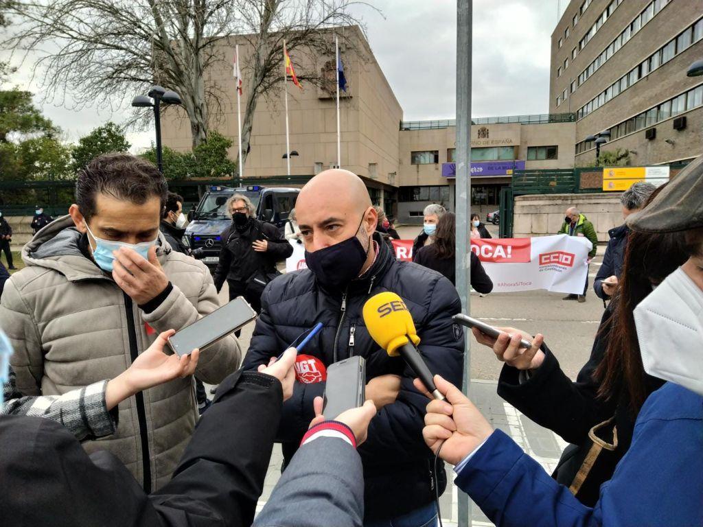 UGT y CCOO se movilizan de nuevo frente a la Delegación del Gobierno de Castilla y León