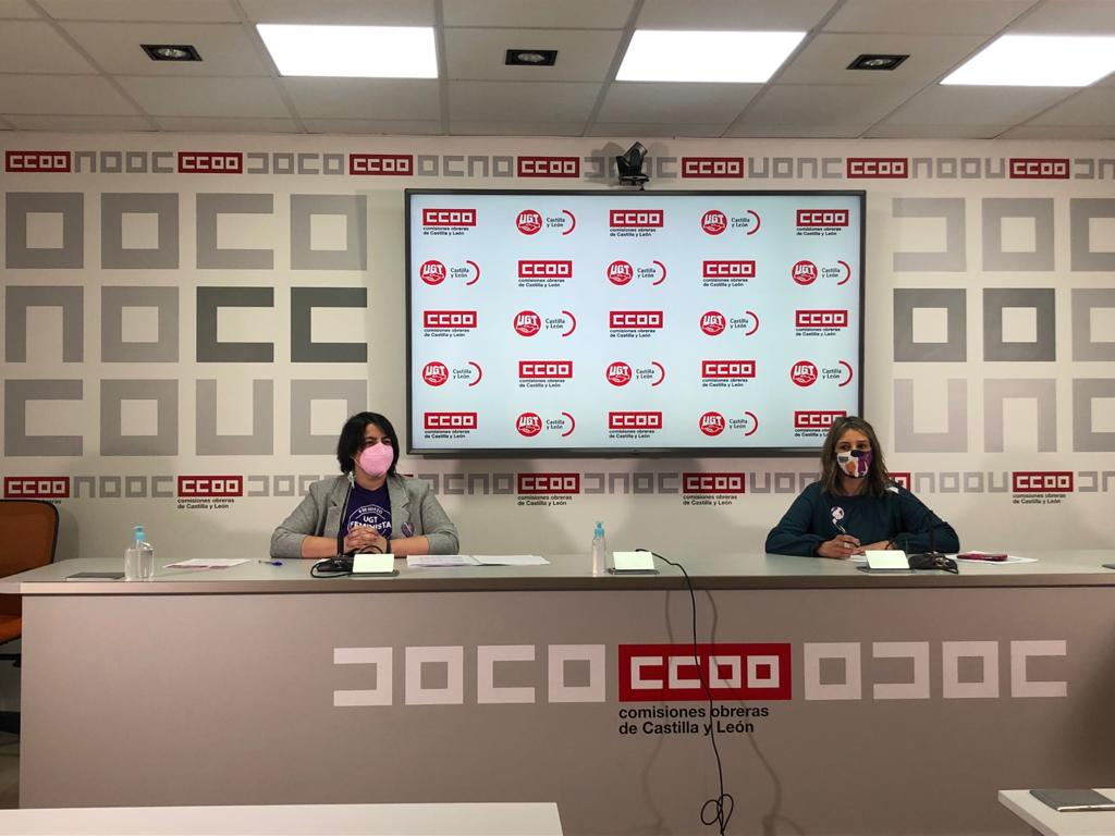 CCOO y UGT de Castilla y León, en Rueda de Prensa por la conmemoración del 8 de marzo