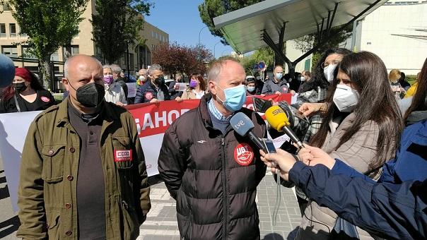 El secretario general de UGTCyL, Faustino Temprano, exige la reunión del Pacto de Toledo para decidir sobre el el futuro de la pensiones, que tiene que quedar dentro del Sistema Público