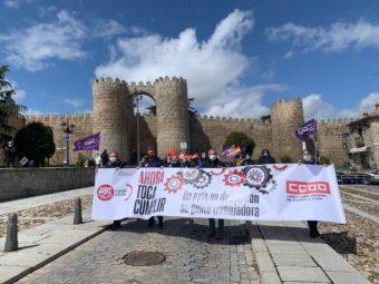 manifestación del 1º de Mayo en Ávila