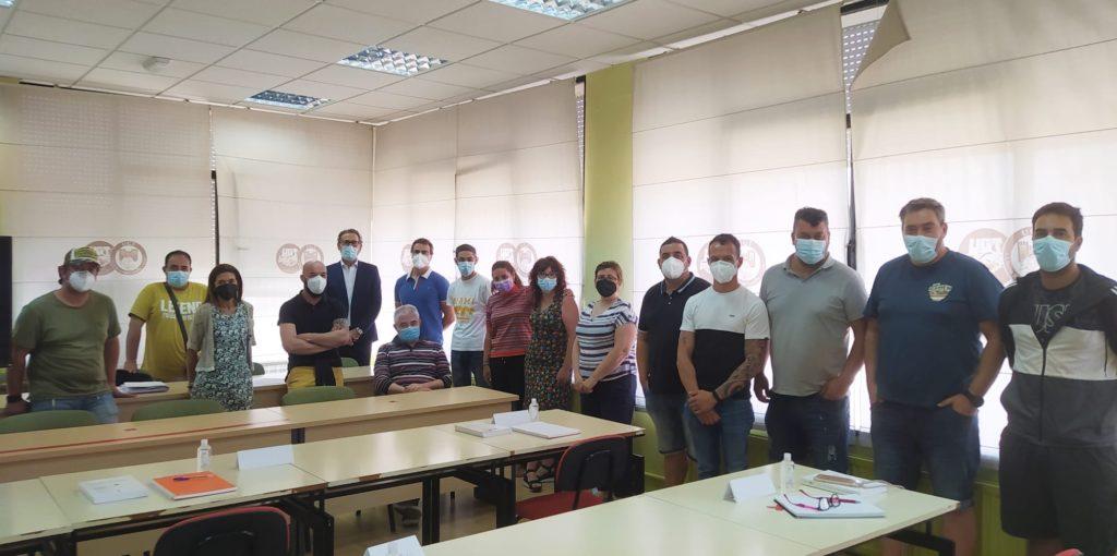 Los delegados y delegadas de UGT Palencia en un momento del curso de formación sobre técnicas de negociación