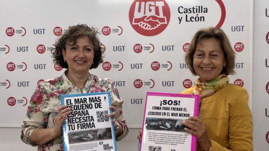 UGTCyL entrega las firmas recogidas en sus sedes para apoyar la ILP Mar Menor